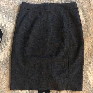 Anthropologie rose print pencil skirt